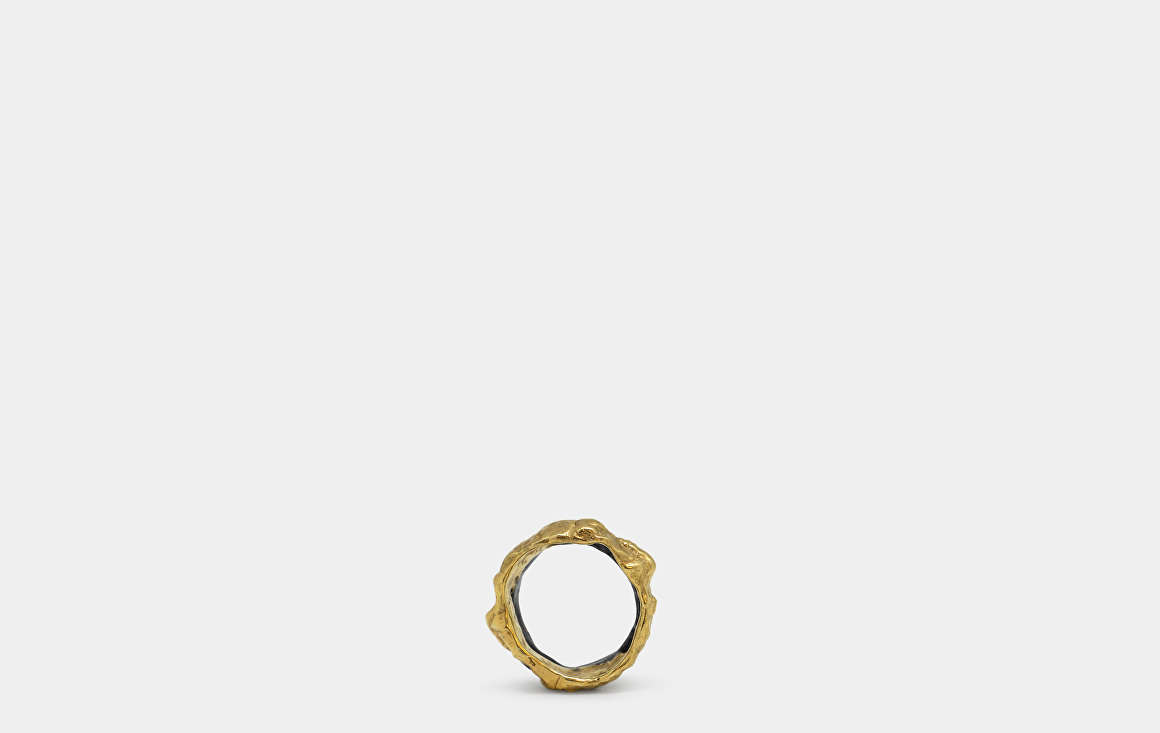 Feswa Eco 2 Stacked Gold Ring